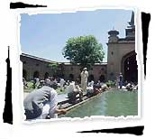 Muslims at Jama Masjid Mosque, Srinagar