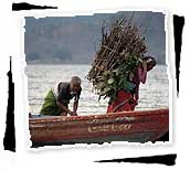 Women Load Boat on Phewa Lake, Pokhara